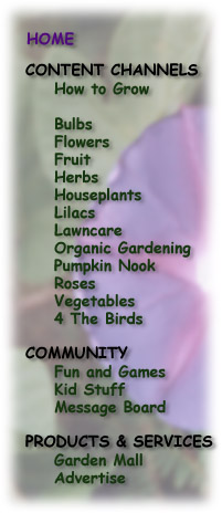 Nav Menu for home gardening, garden